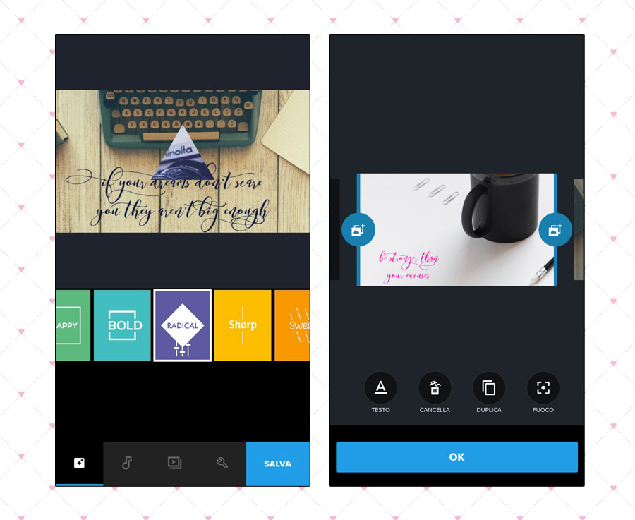 quik screenshot applicazione video editor