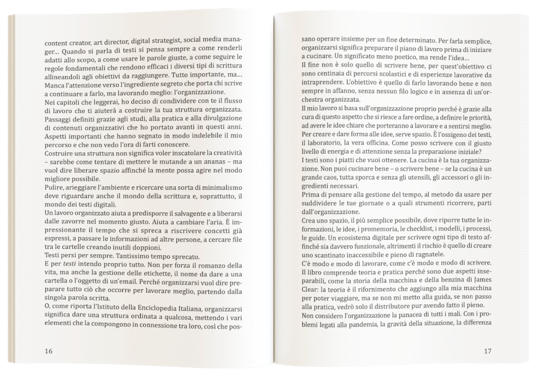 introduzione libro organizzare la scrittura online debora montoli